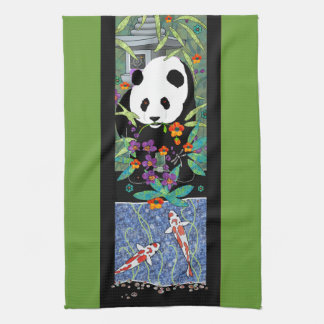 AT THE KOI POND- kitchen towel