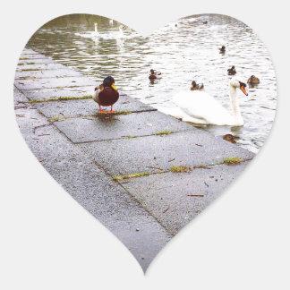 At the Loch Heart Sticker