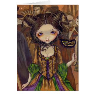 """At the Masquerade Ball"" Greeting Card"