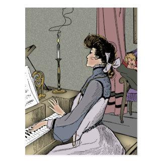 At the Piano Postcard