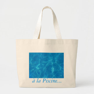 at the pool ... large tote bag
