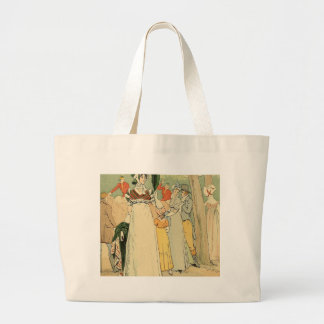 At the races on the Champ de Mars Large Tote Bag