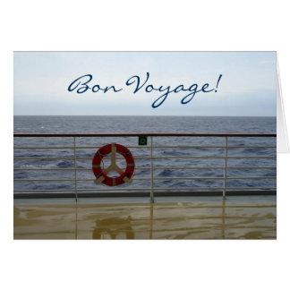 At the Railing Custom Bon Voyage Card