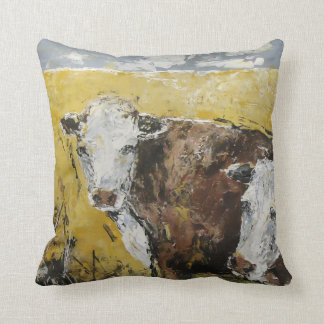 At the Ranch Throw Pillow