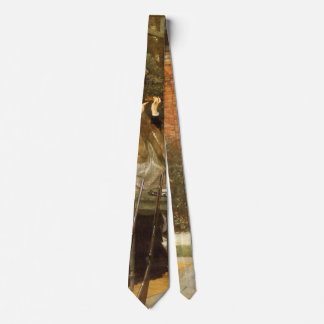 At the Rifle Range by James Tissot, Vintage Art Tie