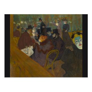 At the Rouge by Henri de Toulouse-Lautrec Postcard