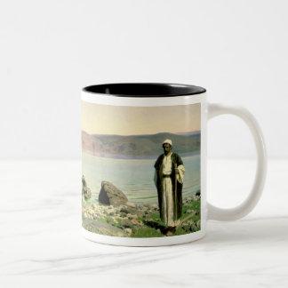 At the Sea of Galilee, 1888 Two-Tone Coffee Mug
