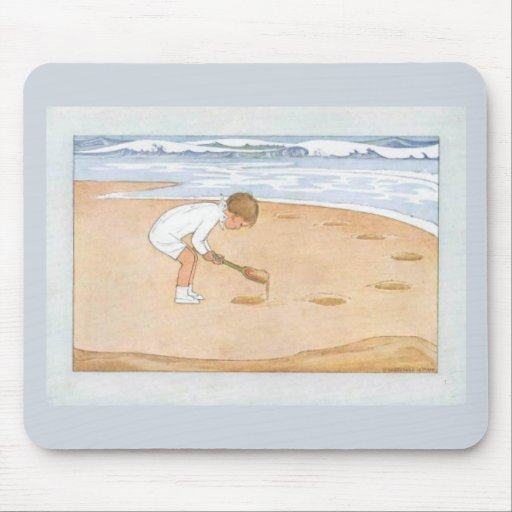 """""""At the Seaside"""" Mouse Pad"""