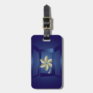 at the window luggage tag