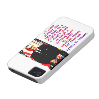 At Times History And Fate - Lyndon Johnson Case-Mate iPhone 4 Cases