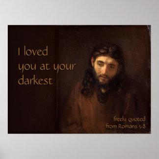 At your darkest CC0521 Rembrandt Jesus XL Poster