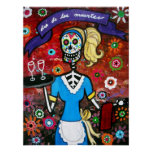 AT YOUR SERVICE  DAY OF THE DEAD POSTER