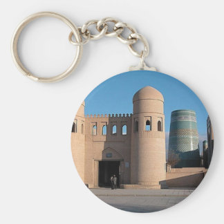 Ata Darvaza Gate Basic Round Button Keychain