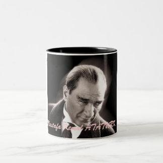 ata, Mustafa Kemal ATATURK Two-Tone Coffee Mug
