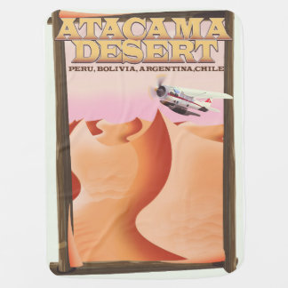Atacama Desert Adventure travel poster. Baby Blanket