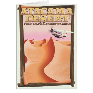 Atacama Desert Adventure travel poster. Card