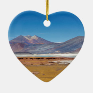 Atacama salt lake ceramic ornament