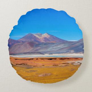 Atacama Salt Lake Round Pillow