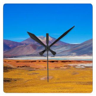 Atacama Salt Lake Square Wall Clock