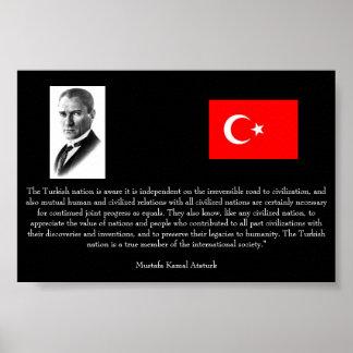 Ataturk - On Turkey and Int l Society Poster