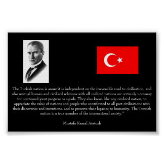 Ataturk - On Turkey and Int'l Society Poster