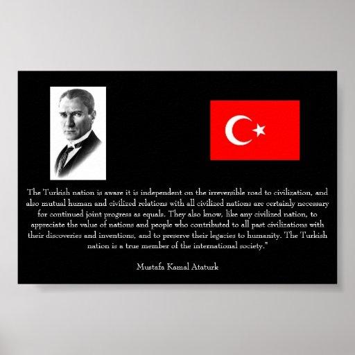 Ataturk - On Turkey and Int'l Society Poster