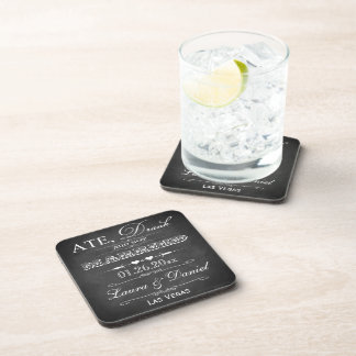 Ate, Drank & Got Married Wedding Coaster Set (6)