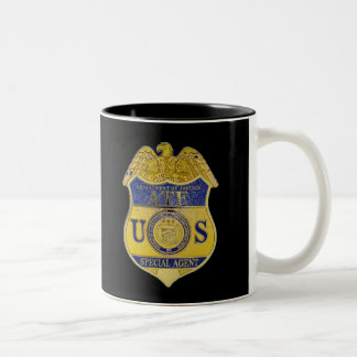ATF ALCOHOL TOBACCO AND FIREARMS Two-Tone COFFEE MUG