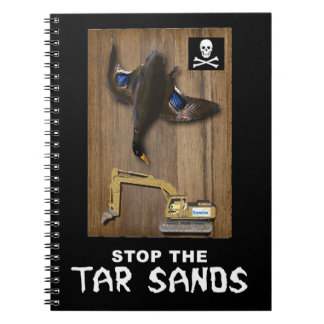 Athabasca Tar Sands Duck Mount Spiral Notebooks