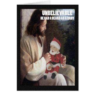 Athée très offensif carte de vœux