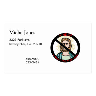 Atheism A Non Prophet Organization Business Card
