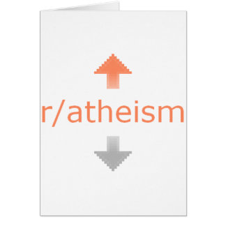 Atheism Upvote Greeting Card