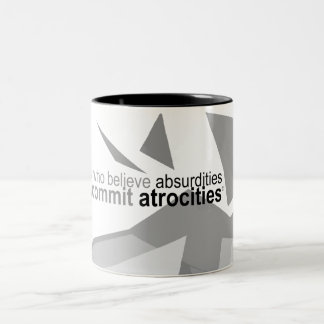 Atheist Apparel - Voltaire Quote Graphic Mug