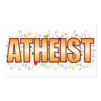 Atheist Bubble Tag Pack Of Standard Business Cards