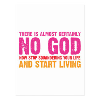 Atheist campaign: There is almost certainly no god Postcard