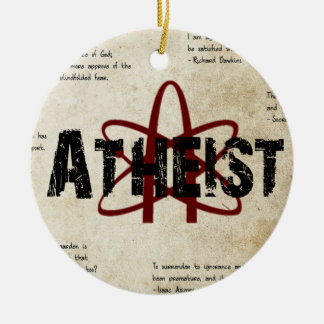 Atheist Ceramic Ornament