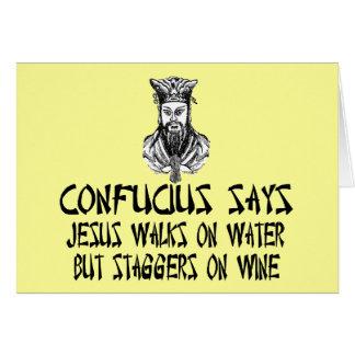 Atheist Confucius Card