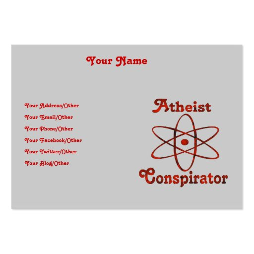 Atheist Conspirator Business Card Templates