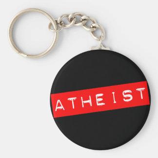 Atheist Dymo Label Basic Round Button Keychain