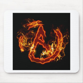 Atheist Fire Symbol Mouse Pad