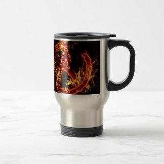 Atheist Fire Symbol Travel Mug
