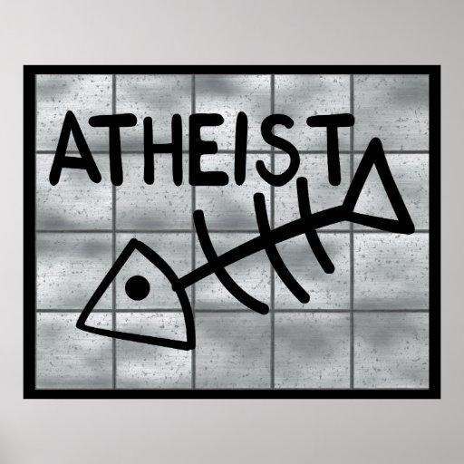 Atheist Fish Print