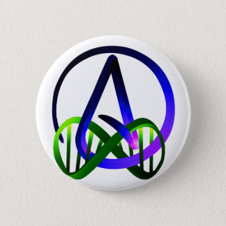 Atheist Forever Purple and Green 2 Inch Round Button