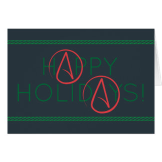 ATHEIST HAPPY HOLIDAYS GREETING CARD