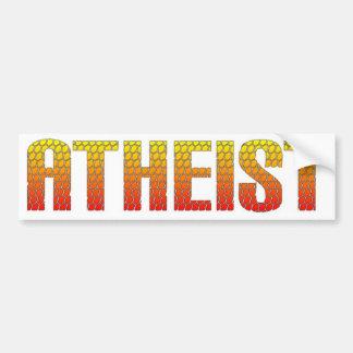 Atheist, hell wire fence style. bumper sticker