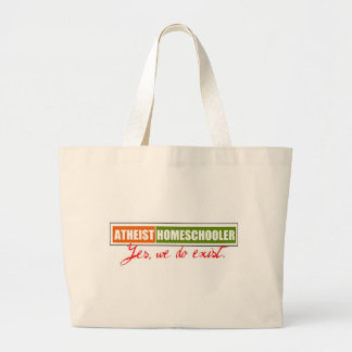 Atheist Homeschooler Large Tote Bag