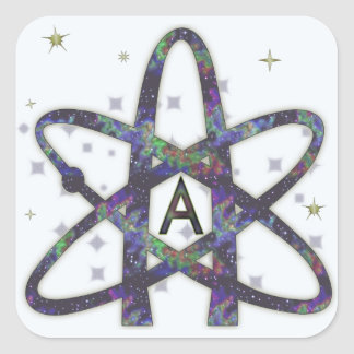 Atheist in Outer Space Stickers