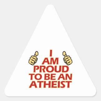 Atheist religious designs triangle sticker