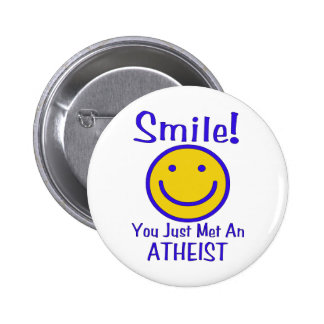 Atheist Smiley 2 Inch Round Button