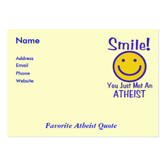 Atheist Smiley Large Business Card